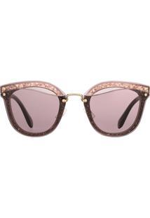 406a936cd232f Miu Miu Reveal Glitter Sunglasses - Pink   Purple