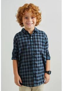 Camisa Vichy Textura Inv19 Reserva Mini Masculino Infantil - Masculino