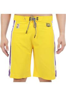 Bermuda Água Hd Nba La Lakers Limeted Edition - Amarelo / 40