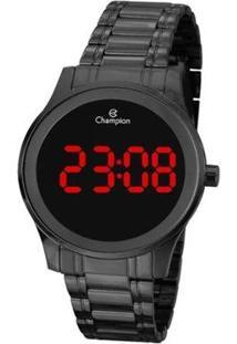 Relógio Champion Digital Ch48046D - Unissex-Preto