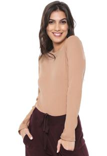 Camiseta Liz Easywear Canelada Bege