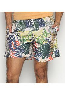 Bermuda Triton Folhagem Masculina - Masculino-Colorido