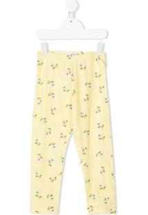Monnalisa Legging Com Estampa - Amarelo
