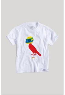 Camiseta Infantil Pica-Pau Senninha Reserva Mini Masculina - Masculino-Branco
