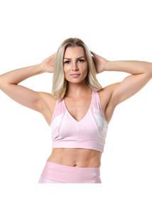 Top Fitness Rock Fit Victory Rosa E Branco
