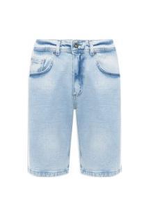 Bermuda Masculina Jeans Delave - Azul