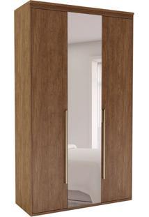 Guarda-Roupa Solteiro Com Espelho Originale 3 Pt 3 Gv Ébano