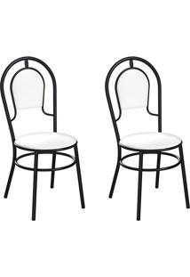 Conjunto Com 2 Cadeiras Hobart Branco E Preto