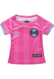 Camiseta Infantil Feminina Umbro Grêmio Outubro Rosa