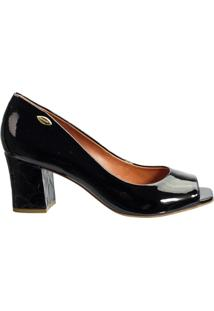 Sapato Peep Toe Feminino Luz Da Lua Verniz S32017 - Feminino