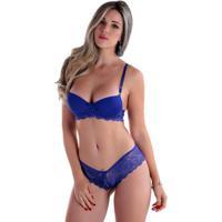 Conjunto De Lingerie Diário Íntimo Com Calesson E Bojo - Feminino-Azul Claro 0c8ecca787a