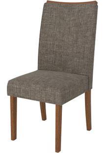 Cadeira Serena 2 Peças - Rústico Terrara Com Linho Bronze
