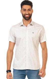 Camisa Docthos Mm Cetim Estampado Branco