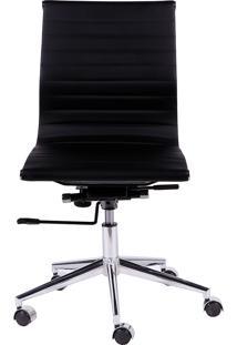 Cadeira De Escritório Esteirinha Baixa Sem Braço - Preta