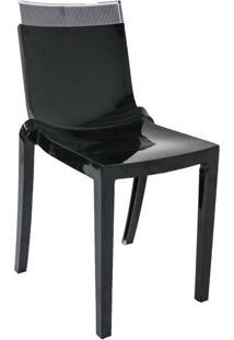 Cadeira Glam Preto Topo Cristal