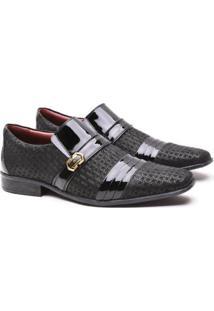 Sapato Social Artesanal Gofer 12403 Masculino - Masculino-Preto