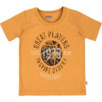 5f4e6eb9122 Camiseta Bebê Menino Em Malha De Algodão Com Estampa Puc
