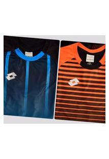 Kit De 2 Camisas Lotto Azul E Laranja