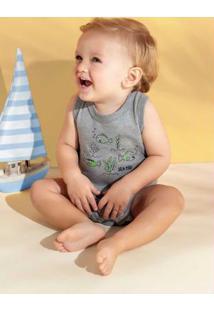 Body Brandili Baby Cinza