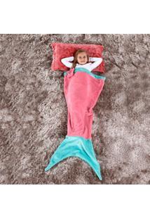 Cobertor Manta Infantil Saco De Dormir 1,40M X 60Cm - Sereia Rosa