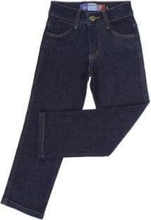 Calça Jeans Infantil Tradicional Rodeo Western Masculina - Masculino-Azul