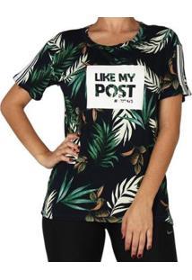 Camiseta Tricats Retilinea Tulum Feminina - Feminino-Verde