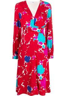 P.A.R.O.S.H. Vestido Com Estampa Floral - Vermelho