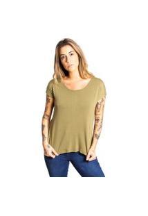 Camiseta Básica Le Julie Verde Militar