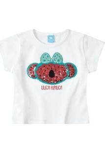 Blusa Bebê Lilica Ripilica Feminina - Feminino-Branco