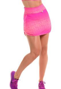 Short Saia Com Proteção Solar Sandy Fitness Fun Mix - Feminino - Feminino -Rosa d6c6b3a80c126