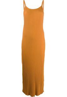 Simon Miller Vestido Canelado - Laranja