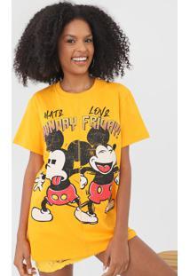 Camiseta Colcci Mickey Amarela