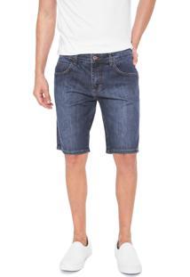 Bermuda Jeans Forum Reta Azul