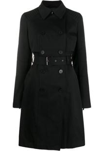 Karl Lagerfeld Trench Coat Com Logo - Preto