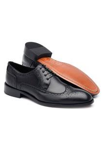 Sapato Jacometti Derby Brogue Ld05 Preto