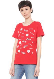 Camiseta Coca-Cola Jeans Smile Vermelha