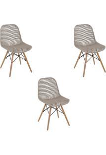 Kit 3 Cadeiras Decorativas Sala E Cozinha Haney (Pp) Gran Belo - - Dafiti