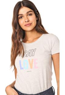 Camiseta Aeropostale Love Cinza