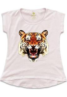 Camiseta Cool Tees Tigre China Town Feminina - Feminino-Rosa