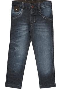 Calça Look Jeans Skinny Jeans Azul Marinho