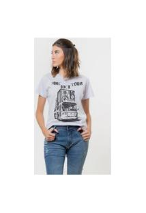 Camiseta Jay Jay Básica Punk Rock Tour Branca