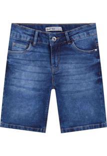 Bermuda Tigor T. Tigre Jeans Infantil Azul