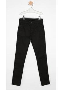 Calça Jeans Infantil Express Benjamim Masculina - Masculino-Preto
