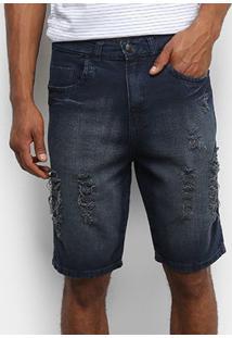 Bermuda Tbt Jeans Destroyed Estonada Masculina - Masculino