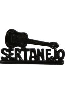 Escultura Decorativa Sertanejo Preta