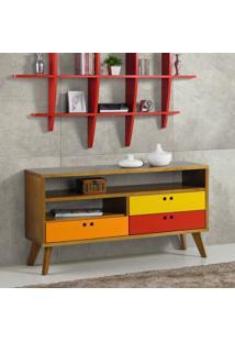Rack Holly Amarelo Com Laranja E Vermelho 120 Cm