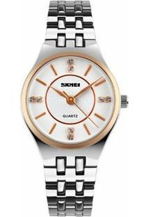 Relógio Skmei Analógico 1133 - Feminino-Branco