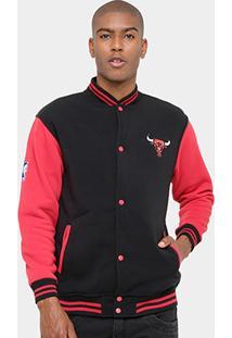 Jaqueta Chicago Bulls Nba Moletom College 17 Masculina - Masculino