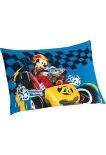 Fronha Mickeyâ® Aventura Sobre Rodas- Azul & Amarela-Lepper