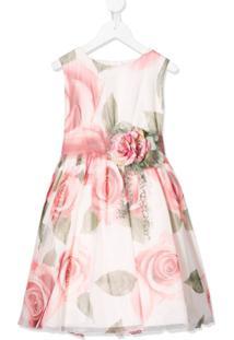 Mimilù Vestido Midi Com Estampa Floral - Rosa